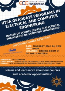 utsa graduate programs in electrical and computer engineering Needed for Mechanical Engineering Degree 21 may 2018 published in coe announcements, electrical \u0026 computer announcements, electrical and computer engineering, general, news, utsa coe