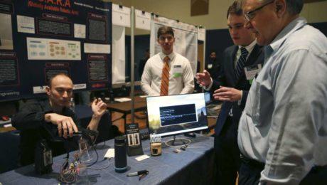 Ryan Saavedra at UTSA Tech Symposium