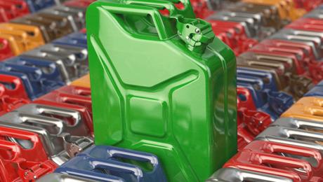 Green gasoline cannister
